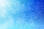 Christmas - winter blue abstract background. The eps file is organised into layers for better editing  - e.g. remove light beams, snowflakes, snow, light particles, groups of defocused lights or background.
