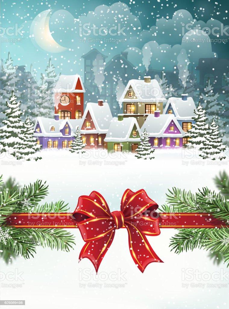 クリスマス冬の街並み お祝いのベクターアート素材や画像を多数ご用意