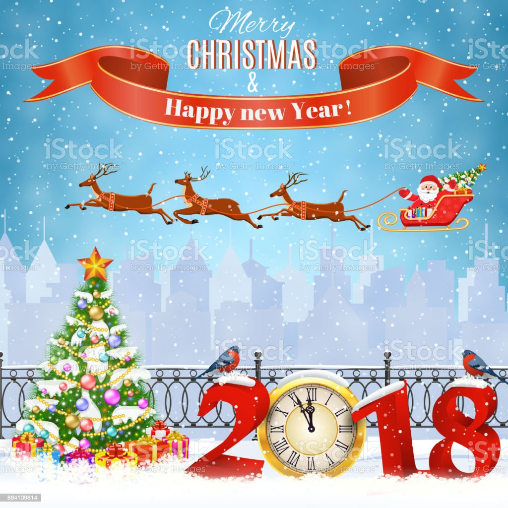 Christmas Winter Cityscape royalty-free christmas winter cityscape stock vector art & more images of 2018