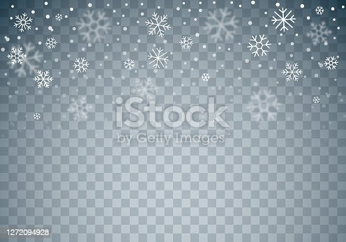 istock Christmas Winter Falling Snowflakes Transparent Background 1272094928