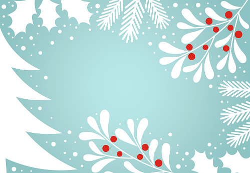 Christmas winter holiday card background.