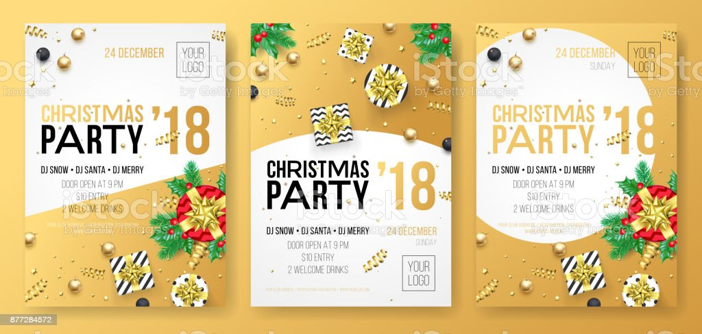 Christmas Winter Holiday Party Celebration Poster Or