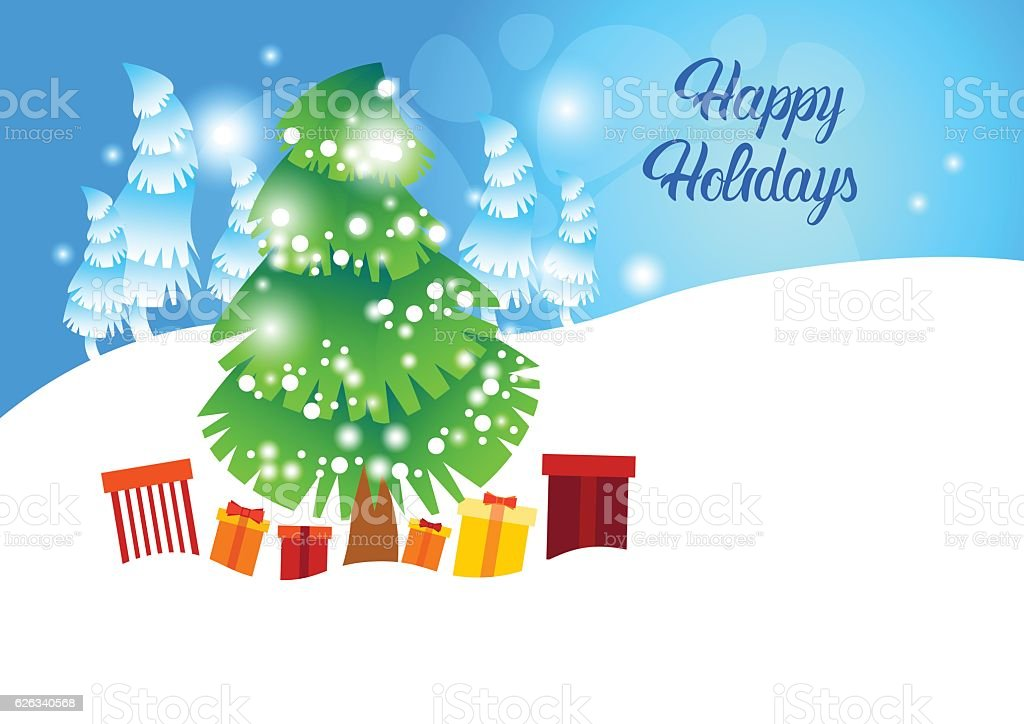 christmas winter holiday pine snow happy new year celebration banner royalty free christmas winter holiday