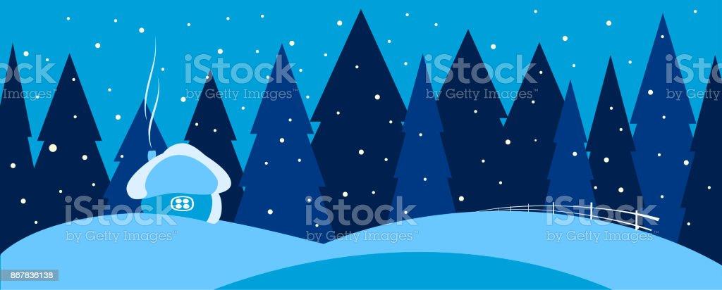 Weihnachten winter-Landschaft-Hintergrund. Vektor. – Vektorgrafik