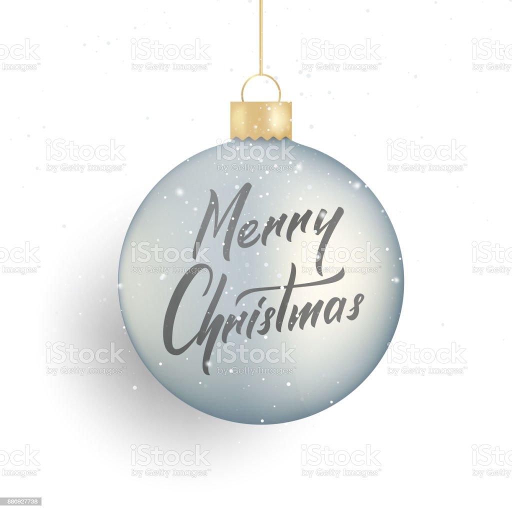 Christmas Winter Seasonal Script Lettering Christmas And Realistic ...
