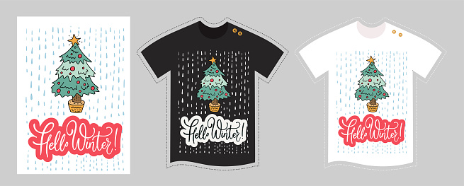 Christmas winter shirt.