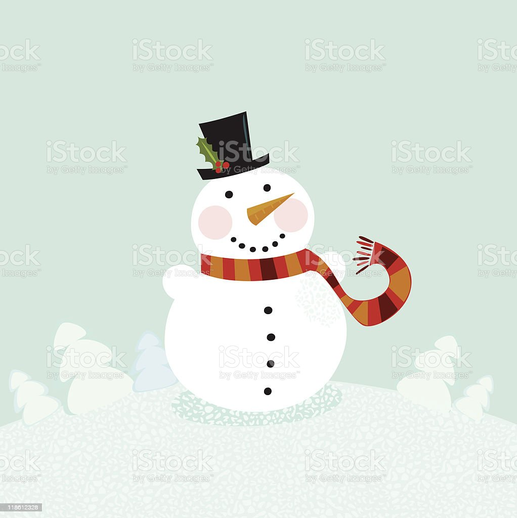Christmas winter snowman royalty-free christmas winter snowman stock vector art & more images of adult