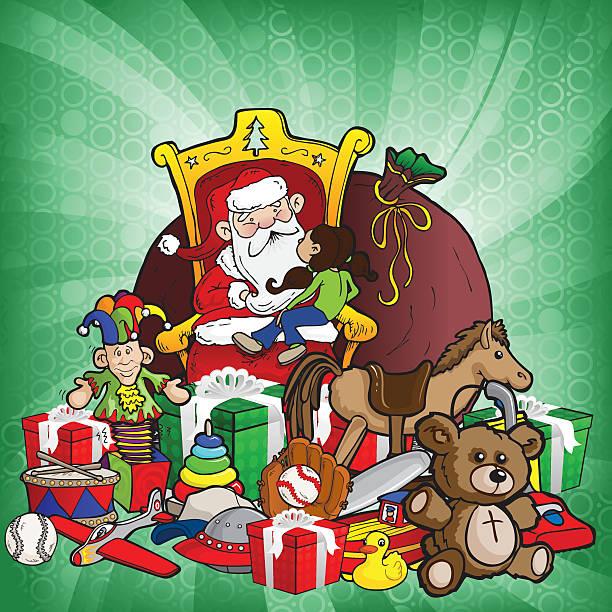 christmas wish burst - old man sitting chair drawing stock illustrations, clip art, cartoons, & icons