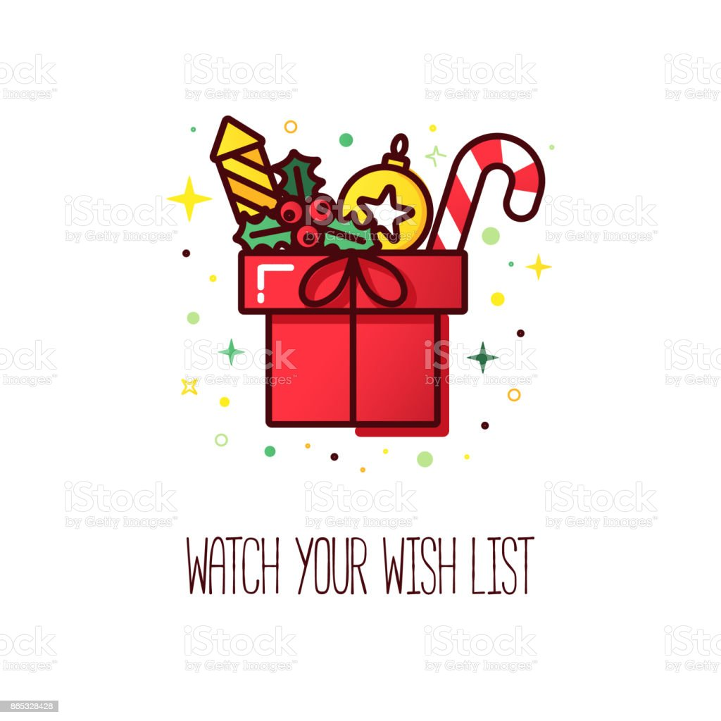 Christmas Wish List Logo Stock Vector Art More Images Of