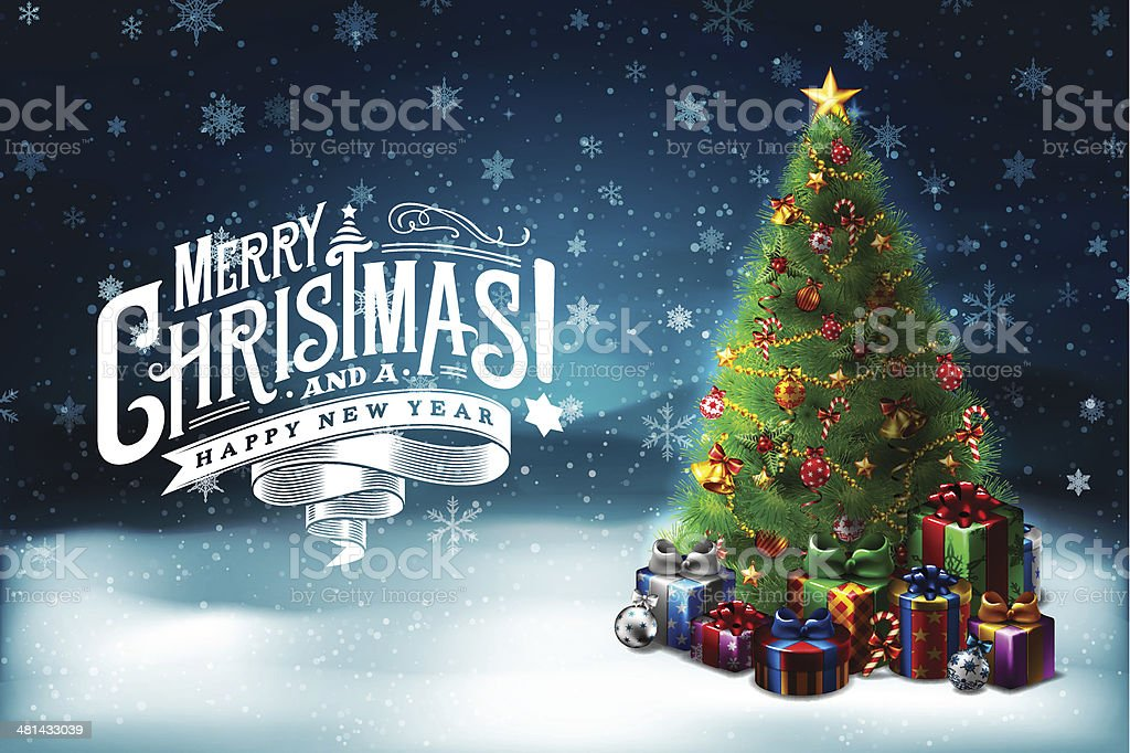 Christmas Wishes 6 royalty-free stock vector art
