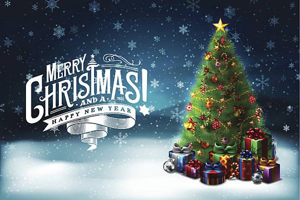 bildbanksillustrationer, clip art samt tecknat material och ikoner med christmas wishes 6 - christmas tree