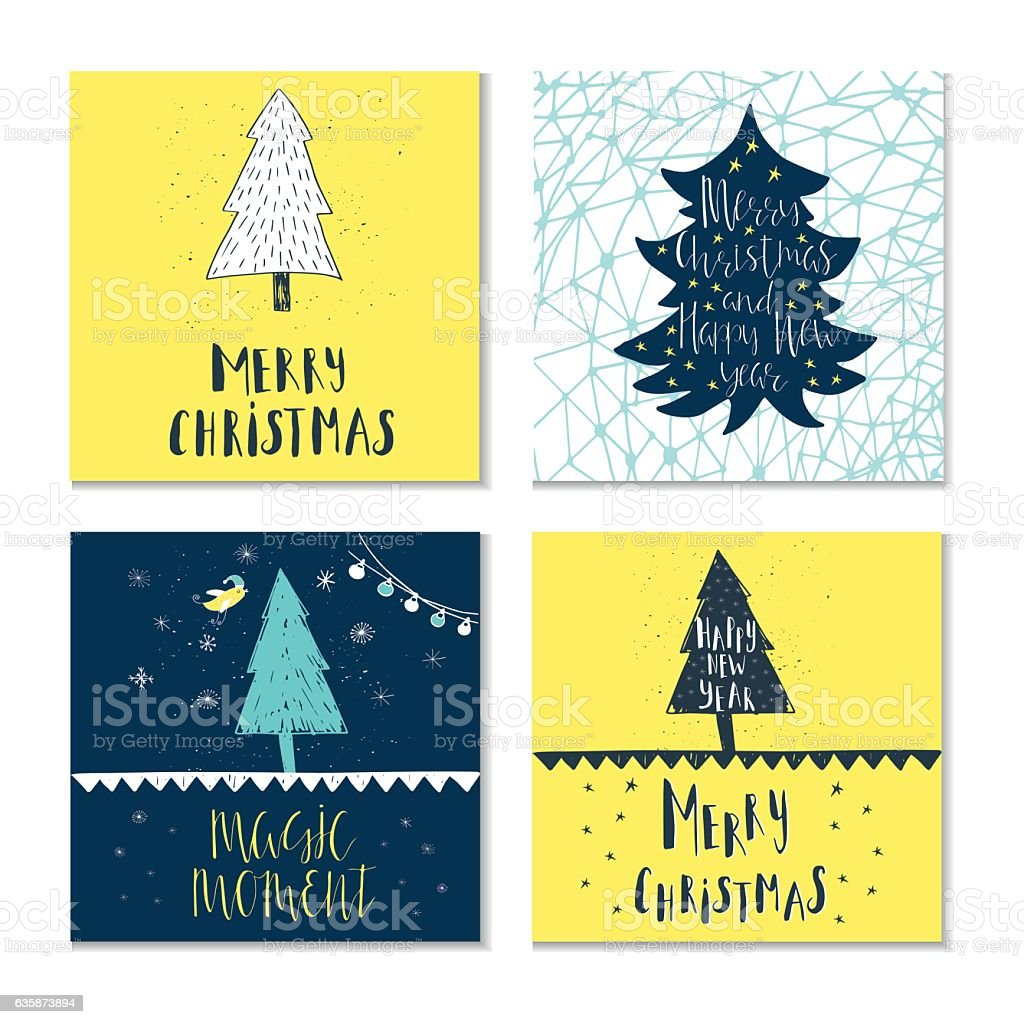 Christmas Wishes For Holiday Greeting Cards Stock Vector Art More