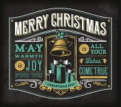 An ornate, vintage Christmas-themed label. EPS 10 file, layered & grouped,
