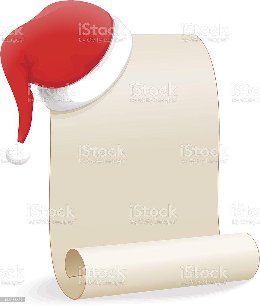 Perfect ... Christmas Wishlist (Santa Hat And Scroll) Vector Art Illustration ...