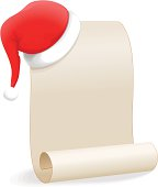 Santa hat and scroll. XXL JPEG also included.