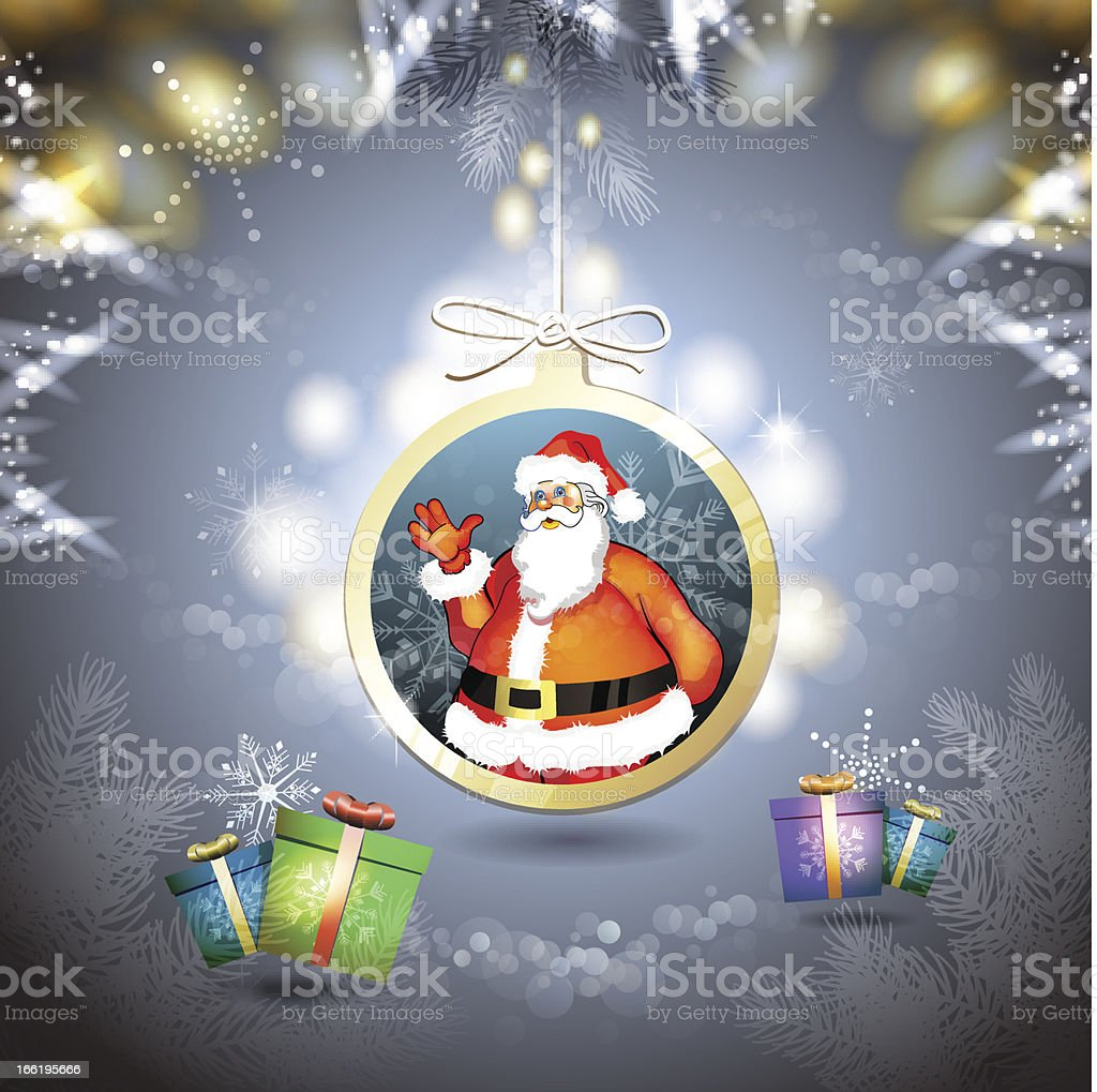 Christmas with gifts and Santa royalty-free christmas with gifts and santa stock vector art & more images of blue