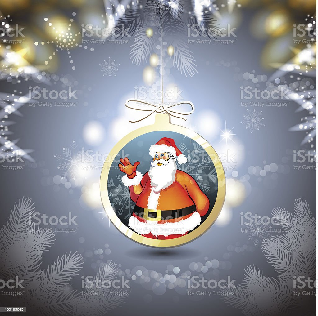 Christmas with Santa royalty-free stock vector art