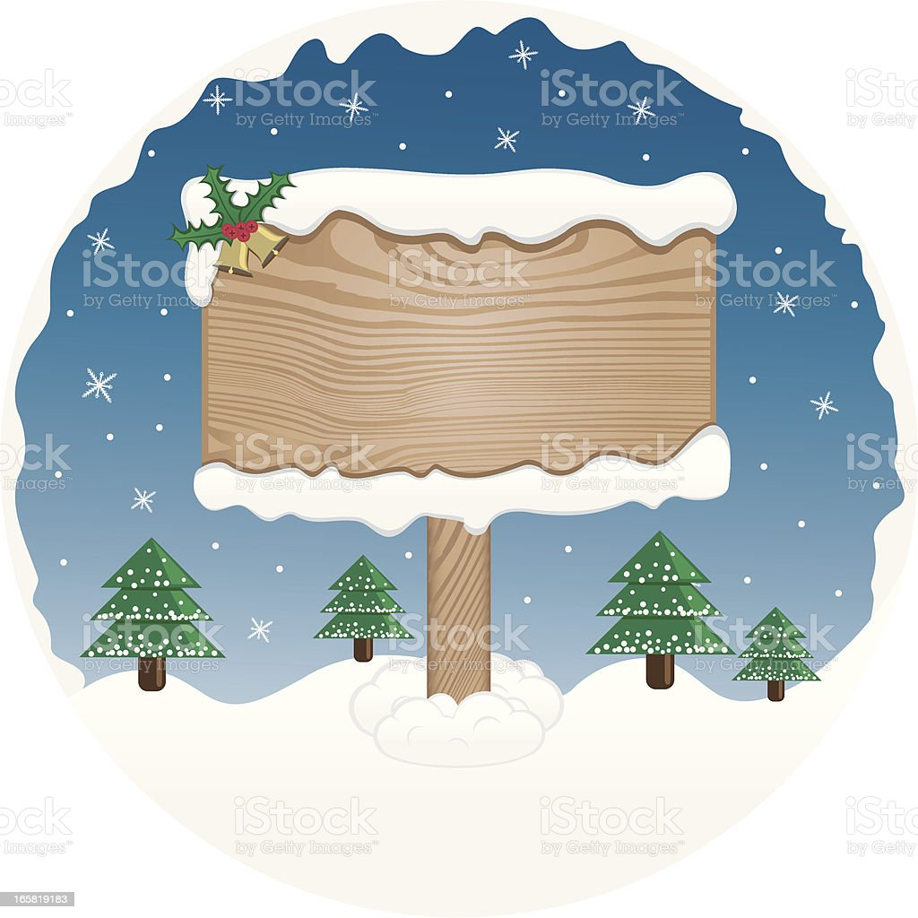 Christmas Wooden Sign royalty-free christmas wooden sign stock vector art & more images of bell