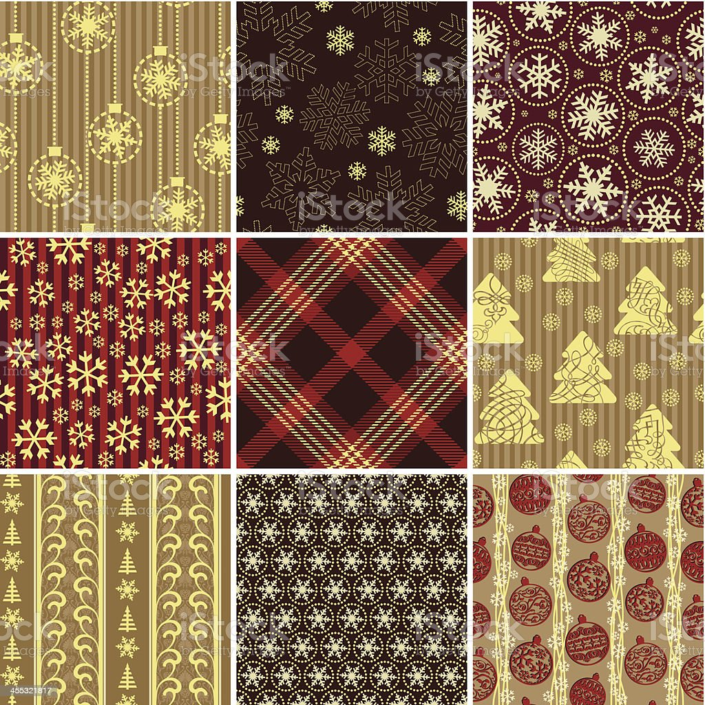 Christmas wrapping paper royalty-free stock vector art