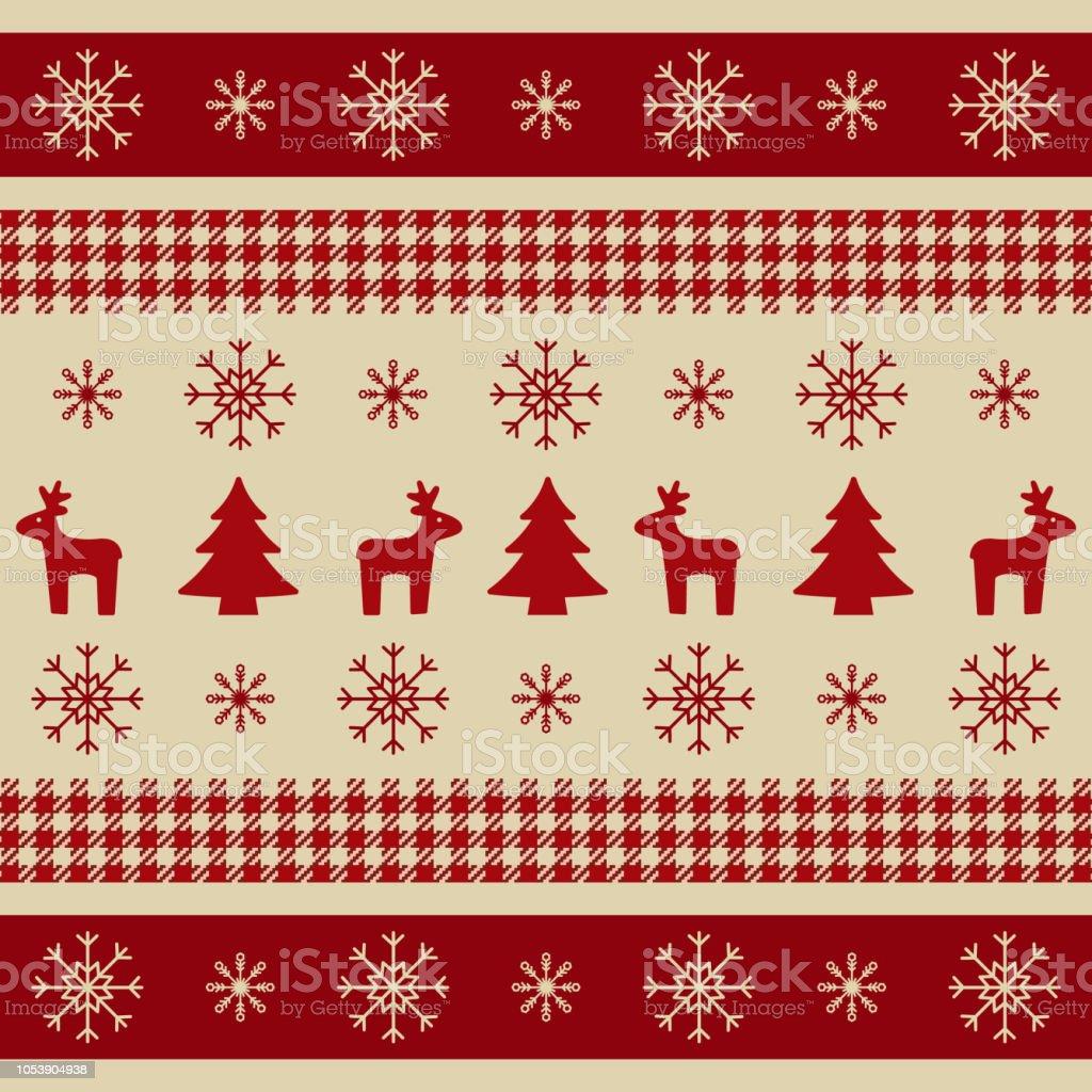 クリスマスの包装紙トナカイクリスマス ツリー雪の結晶を持つ壁紙バナー明るいクリスマス質感を印刷します冬のデザイン要素ですベクトル図 お祝いのベクターアート素材や画像を多数ご用意 Istock