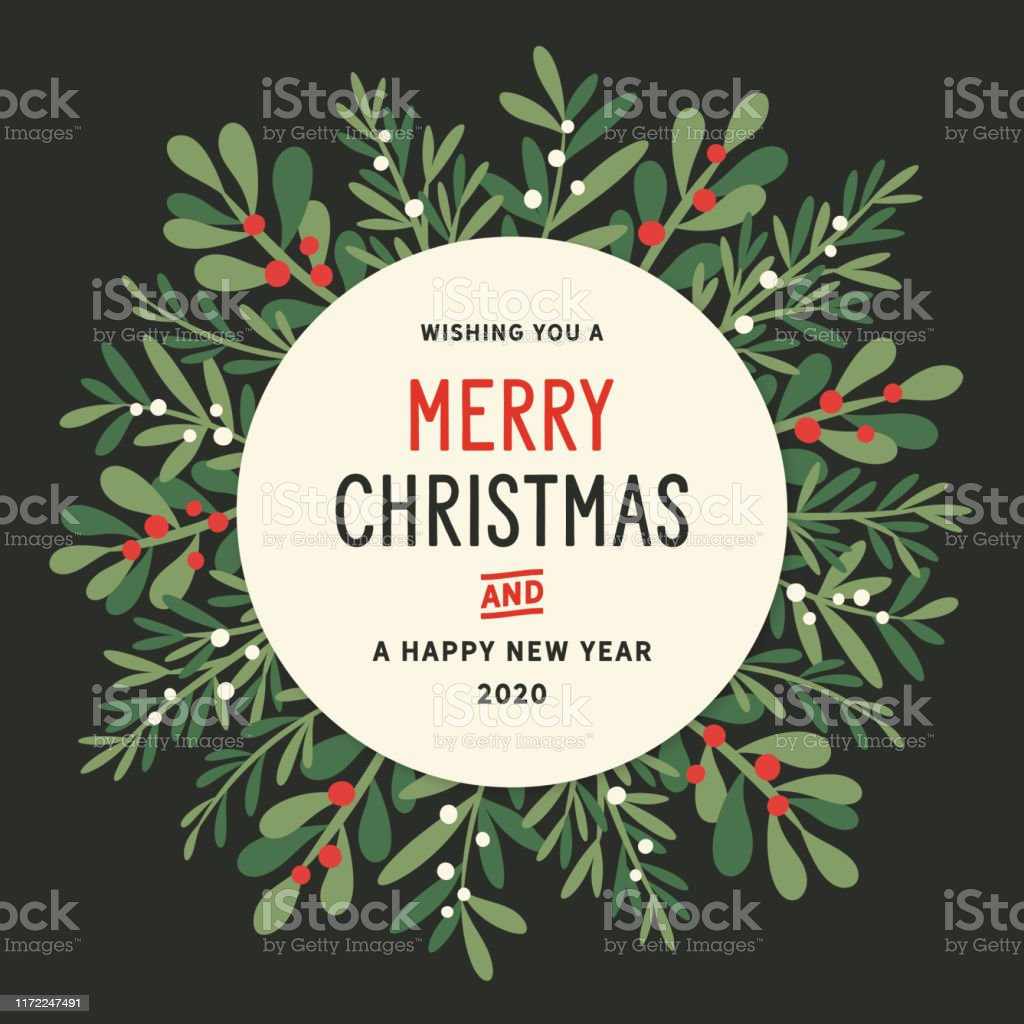 Christmas Wreath Background Stock Illustration Download Image Now Istock