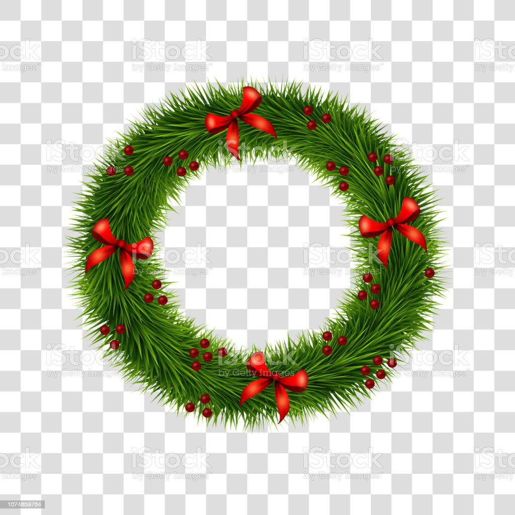 christmas wreath decoration with red bows and holly