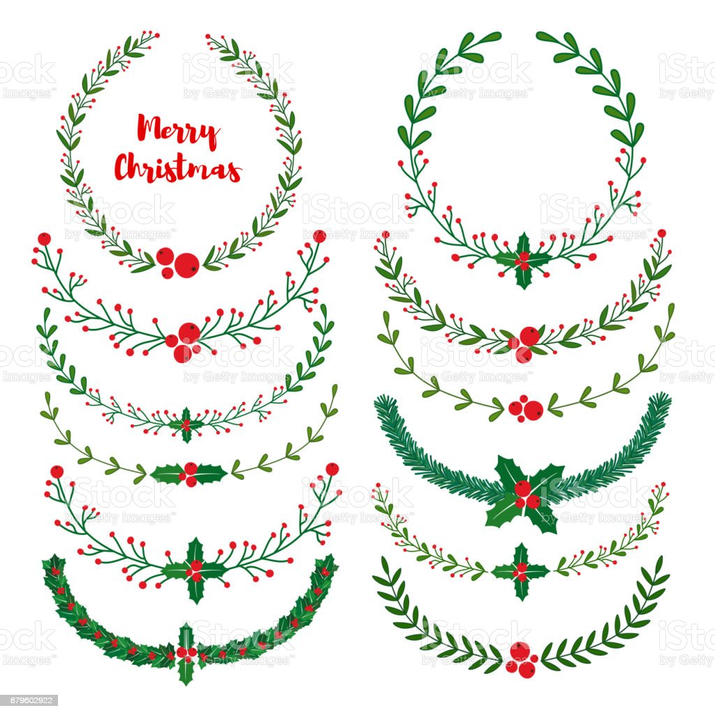 christmas wreath frames brushes royalty free stock vector art - Wreath Frames