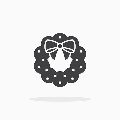 Christmas wreath icon.