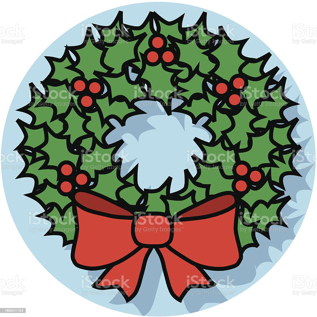 Christmas wreath icon royalty-free stock vector art