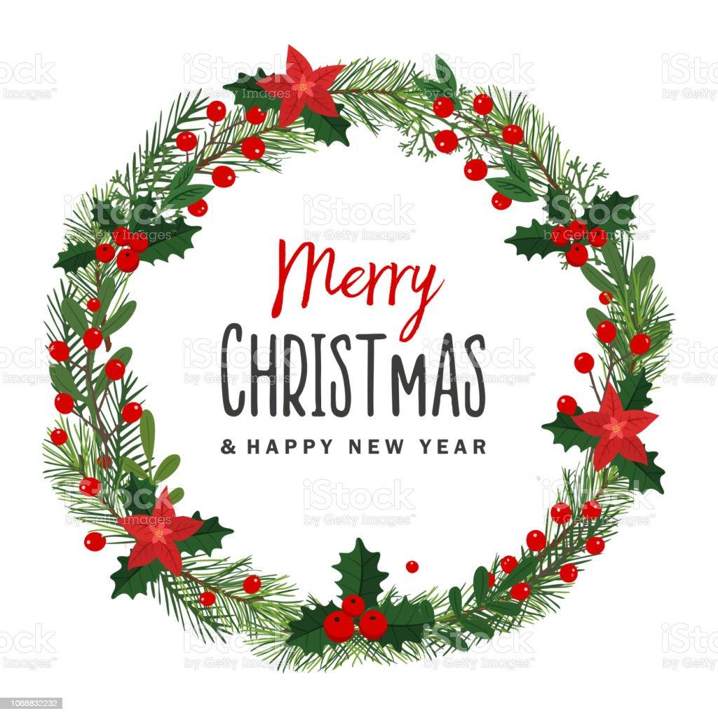 Christmas Wreath Illustration Stock Illustration Download Image Now Istock