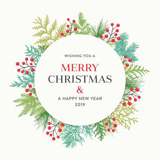 stockillustraties, clipart, cartoons en iconen met de kroon van kerstmis - christmas