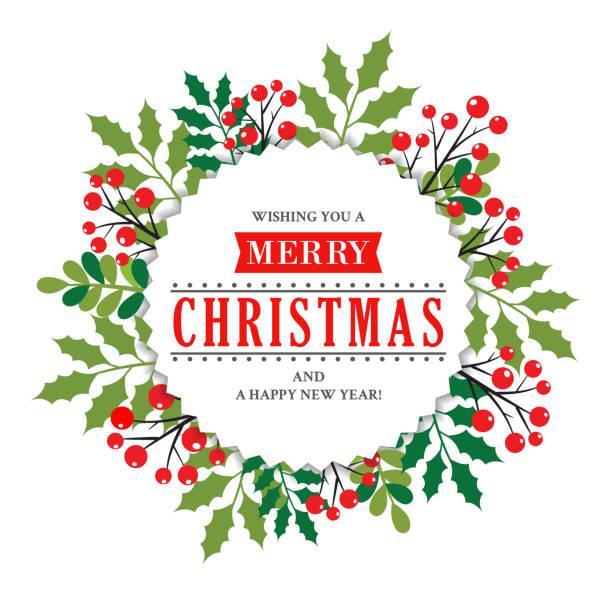christmas wreath - holiday season stock illustrations