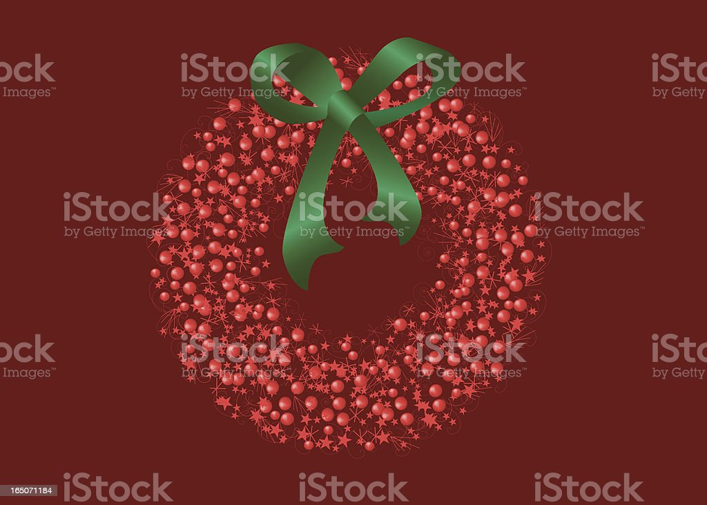 Christmas Wreath royalty-free christmas wreath stock vector art & more images of berry