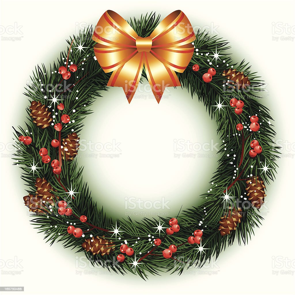 christmas wreath royalty-free christmas wreath stock vector art & more images of art and craft