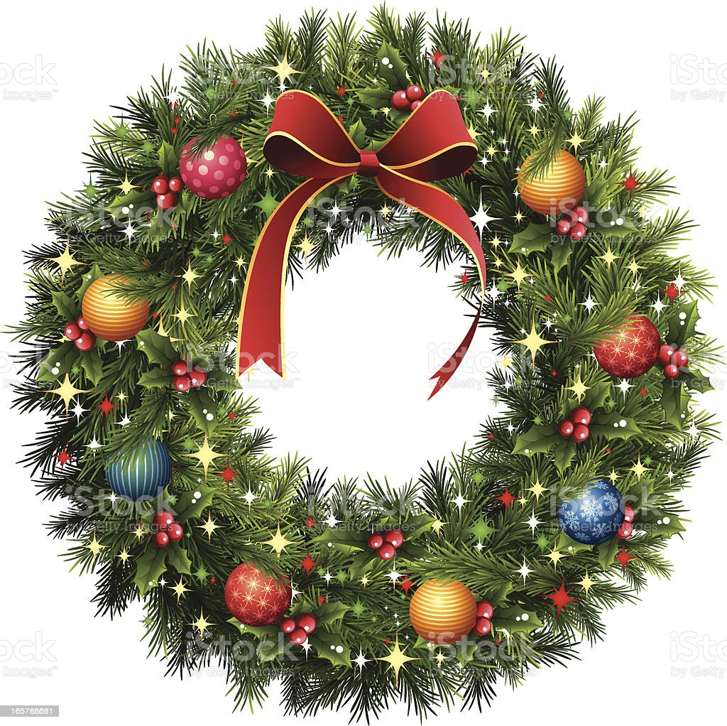Christmas Wreath royalty-free stock vector art