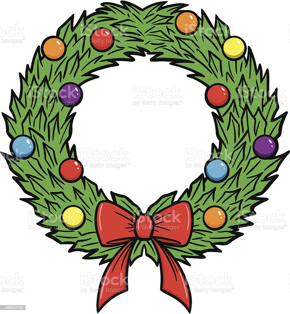 Christmas Wreath Vector.Christmas Wreath Stock Illustration Download Image Now