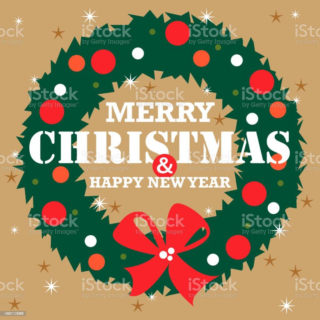 Weihnachtskranz – Vektorgrafik