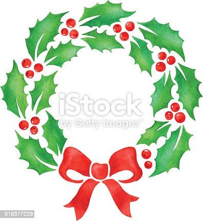 istock Christmas wreath 516377229