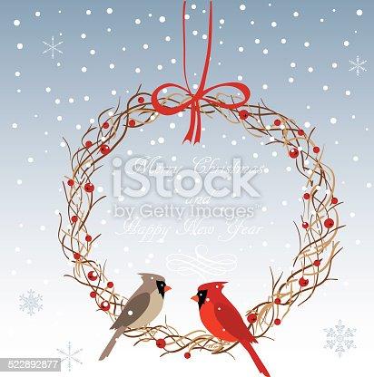 istock Christmas wreath 522892877