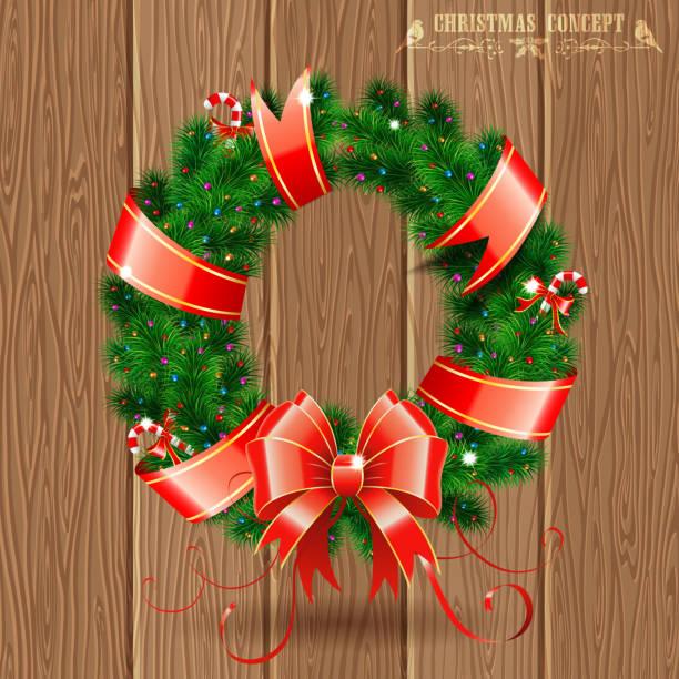 weihnachtskranz - dompfaff stock-grafiken, -clipart, -cartoons und -symbole