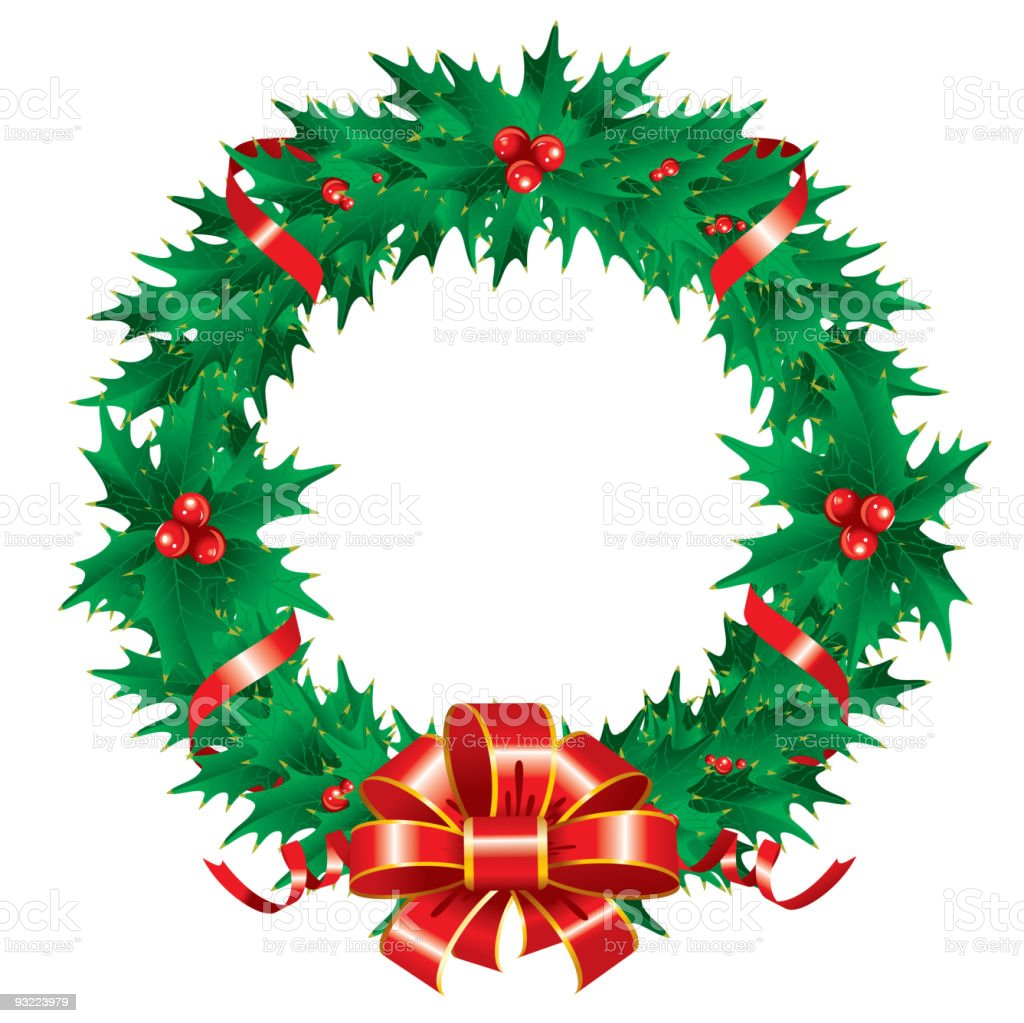 Christmas wreath royalty-free christmas wreath stock vector art & more images of backgrounds