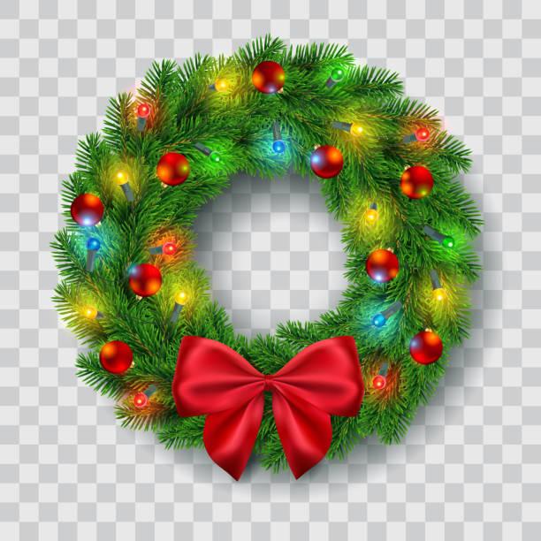 Christmas Wreath Clipart.Best Christmas Wreath Illustrations Royalty Free Vector