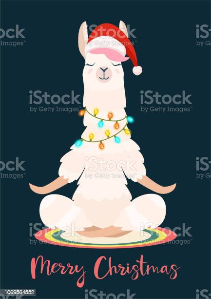 Christmas yoga llama meditates vector illustration funny festive vector id1069564552?b=1&k=6&m=1069564552&s=612x612&h=8ekjqk2swxhrppgyj vgwhv0xnbps7 mijakdr8t1pm=