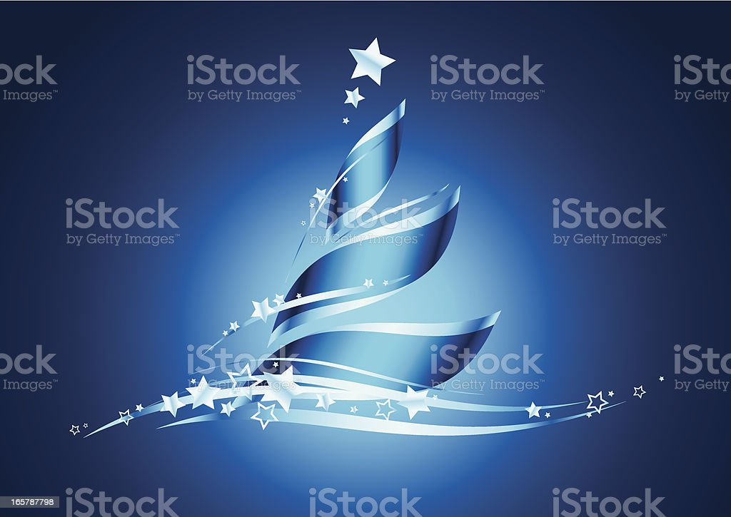 Christmas_tree_ribbon_blue royalty-free stock vector art