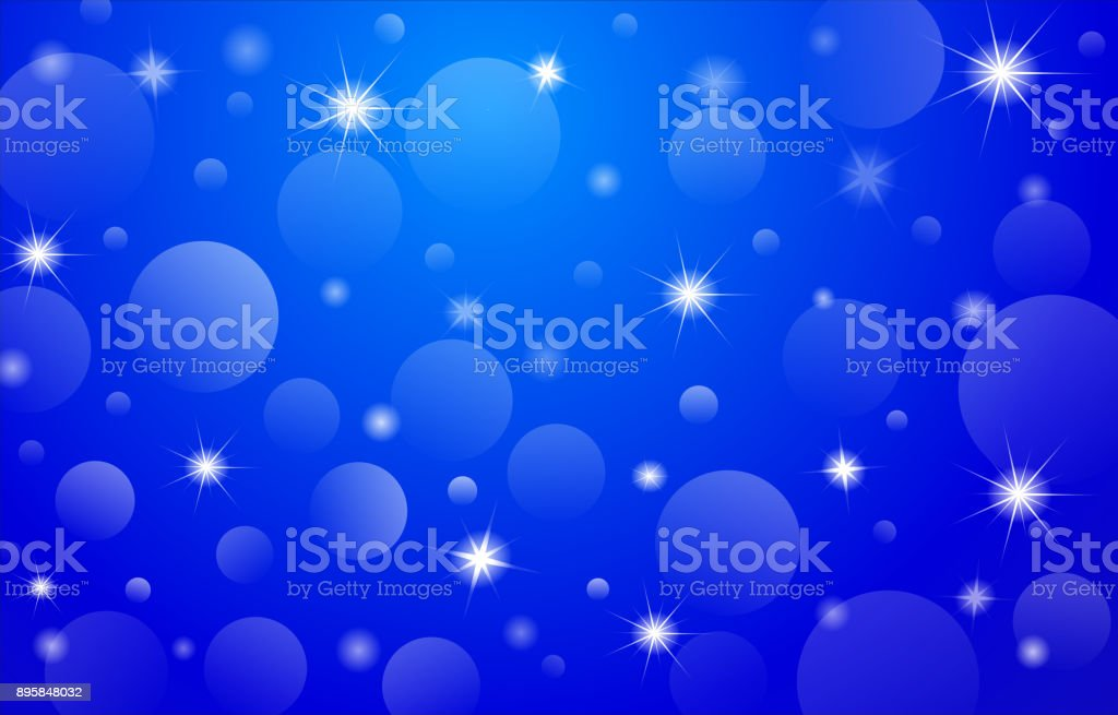 Christmas-Card-Background-Blue vector art illustration