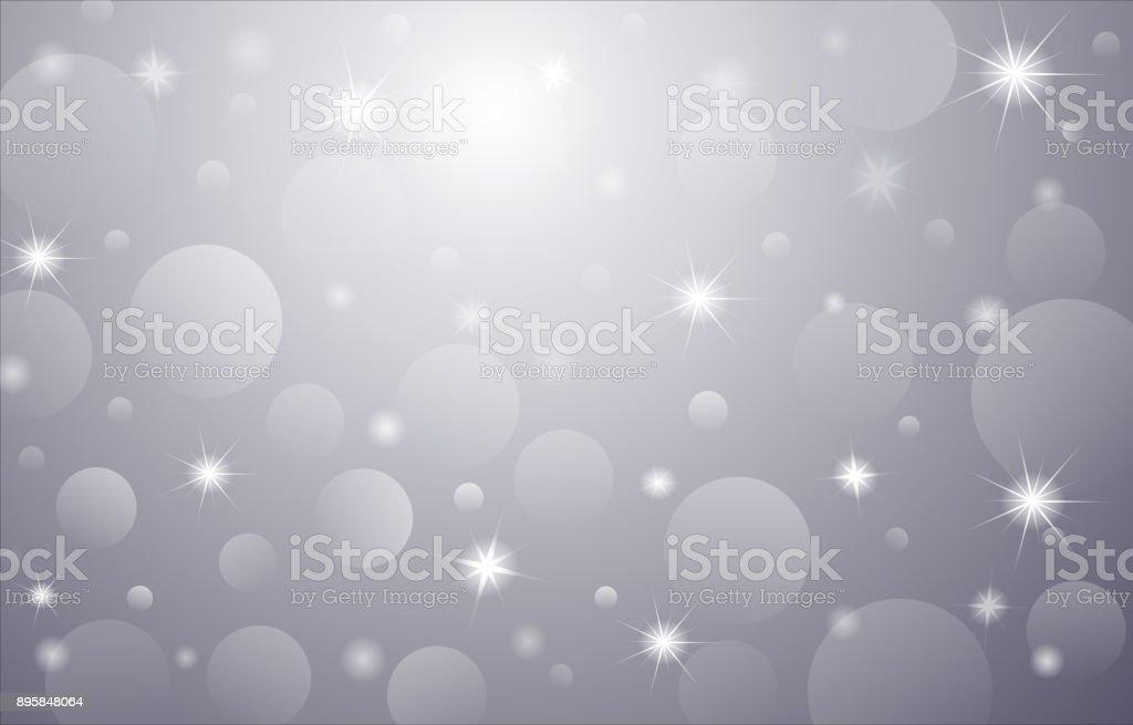 Christmas-Card-Background-Gray vector art illustration