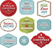 Holiday labels.EPS 10 file with transparencies.More works like this linked below.