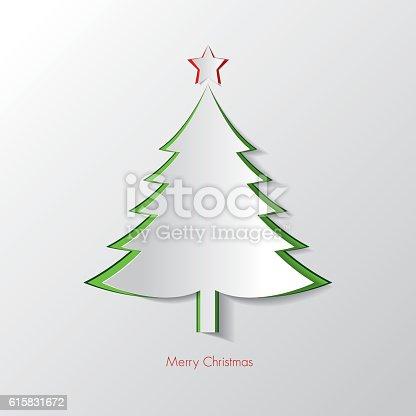 istock Christmas-Paper Tree-Illustration 615831672