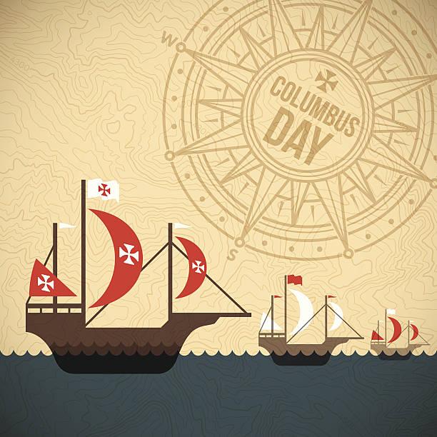 크리스토퍼 콜럼버스 일-연도 - columbus day stock illustrations