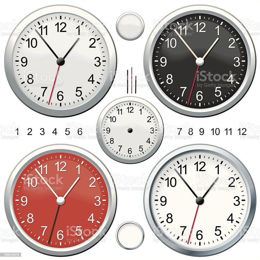 Chrome Clocks royalty-free stock vector art